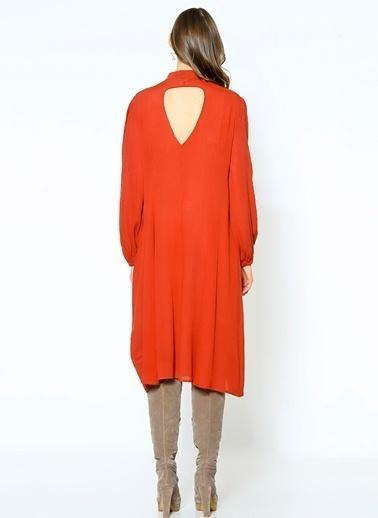 Somedays Lovin Yırtmaçlı Salaş Elbise Kiremit